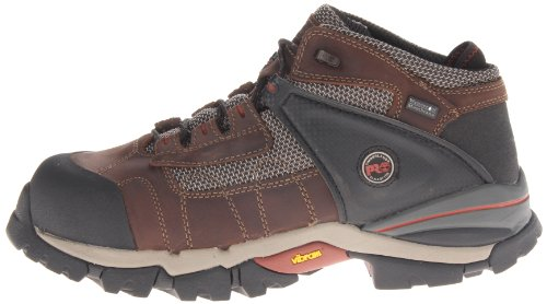 Pictures of Timberland PRO Men's Hyperion Four-Inch Brown Distressed Leather/Fabric 4