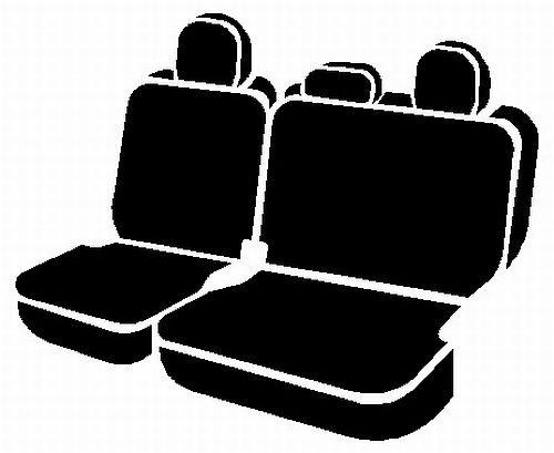 Fia SL62-38 Gray Custom Fit Rear Seat Cover Split Seat 60//40 Black w//Gray Center Panel Leatherette,