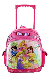 Amazon.com: Disney's Princess Rolling BackPack - Princesses ...