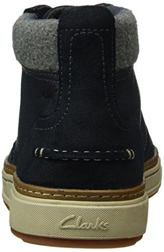 navy Stringate Leather Clarks Blu Scarpe Lorsen Uomo qXEwz1E