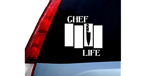 Amazon.com: Chef Vida Vinilo calcomanía sticker cars ...