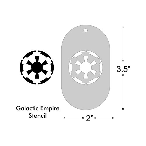 Stencil - Imperial Galactic Empire emblem, (Star Wars Face Paint)