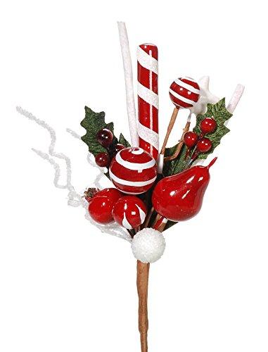 Amazon Com Christmas Floral Peppermint Candy Christmas Picks 11