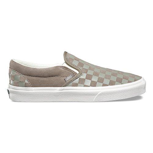 Vans Klassieke Slip-on (ruiter Reliëf) Fashion Sneakers Fallen Rock / Blanc De Blanc Maat 11.5 Heren / 13 Dames