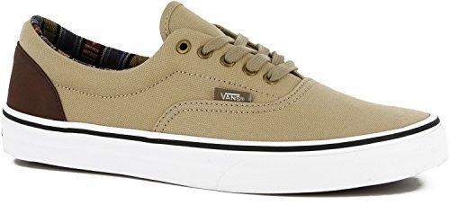 845e319dfc4862 Vans Era (Indo Pacific) Khaki True White Skate Shoes (8 B(M) US WOMEN   6.5  D(M) US MEN)