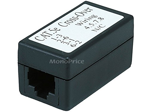 - Monoprice Cat5e Crossover Inline Coupler, Black (101070)
