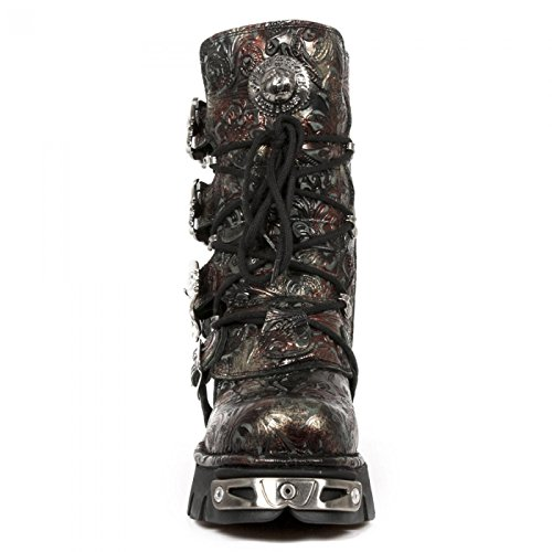 New Rock Boots M.391-s26 Gotico Hardrock Punk Unisex Stiefel Rot