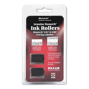 Monarch Products - Monarch - 925403 Replacement Ink Rollers, Black, 2/Pack - Sold As 1 Pack - For use in Monarch 1131 and 1136 pricing labelers. - An easy-load ink - Inking System