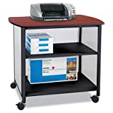 Safco - Impromptu Deluxe Machine Stand 34-3/4W X 25-1/2D X 31H Black/Cherry ''Product Category: Office Furniture/Printer/Office Machine Carts & Stands''