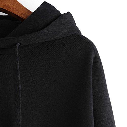 Pullover Donna Blous Cappuccio Reasoncool Nero Streetwear Casual Con Felpa In Blouson Cotone 2030 Owtx1I