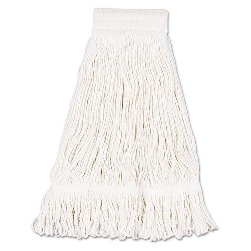 Loop Web/Tailband, Premium Saddleback Head, Cotton, 24-oz, White - 12 mop heads per case. (24 Ounce Cotton Web)