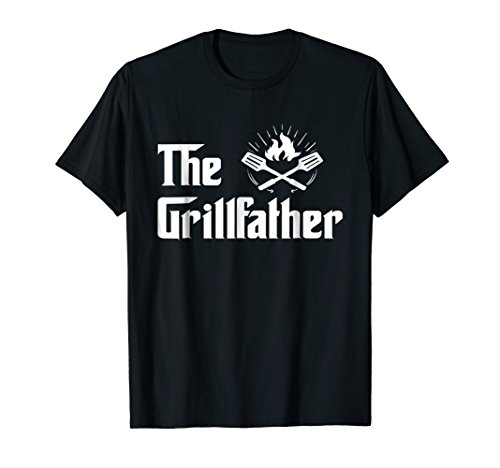 The Grillfather Funny BBQ Dad BBQ Grill Dad Grilling T Shirt
