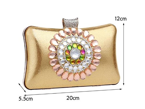 Banquet Luxury FZHLY Ladies Red Diamond Package Clutch Evening WenL qZtwIq