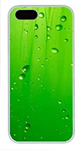 Abstract green water droplets 2 amazing iphone 5c case PC White for Apple iphone 5c