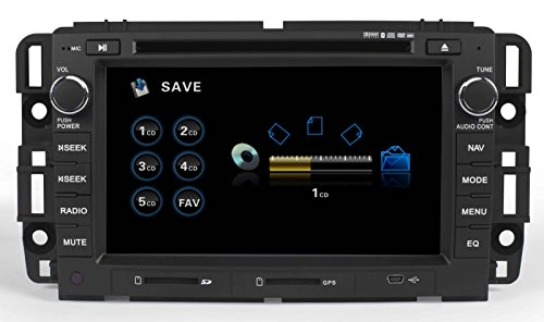 GMC In-Dash GPS Navigation DVD Player Bluetooth A2DP Audio Streaming 7 Inch Touchscreen FM AM