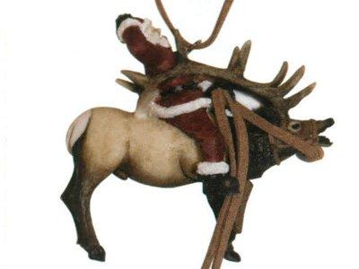 (Barto's Santa riding elk ornament)