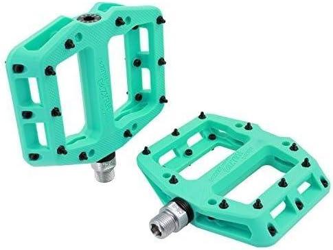 MTB Pedals Mountain Bike Pedals Lightweight Nylon Fiber Bicycle Platform Blue