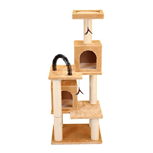 North American Pet Products NA48591 Multi-Tier Kitty Play Tower with Two Hideouts