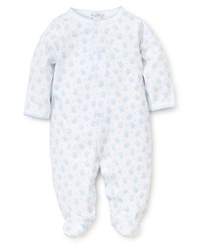 Kissy Kissy Baby-Boys Infant Beloved Bears Print Footie-White Blue-6-9 Months