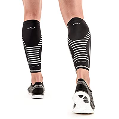 Mava Sports Calf Sleeves Compression (Pair), Leg Compression Calf Sleeve for Runners, for Men & Women, Unisex