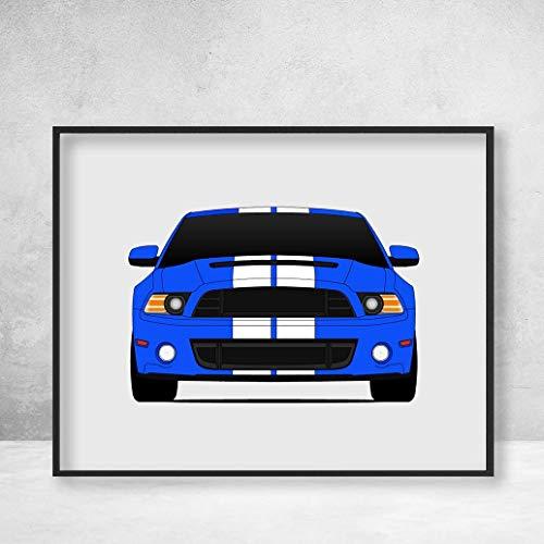 Shelby GT500 S197 II Ford Mustang Cobra (2013-2014) Poster Print Wall Art Decor Handmade Carroll Shelby ()