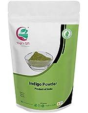 Yogi's Gift - Organic Indigo Powder for Hair dye 250 grams | Ideal for Black and Dark Hair | Indigofera Tinctoria | Organic Natural Hair color
