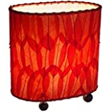 Eangee 531-r Contemporary Guyabano Leaf Indoor Table Lamp, 9'' x 5'' x 9'', Red