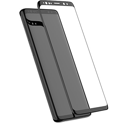TOZO for Samsung Galaxy S9 Screen Protector Glass [ 3D Full Frame ] Premium Tempered 9H Hardness Super Easy Apply for Samsung Galaxy S9 work with most case Black Edge