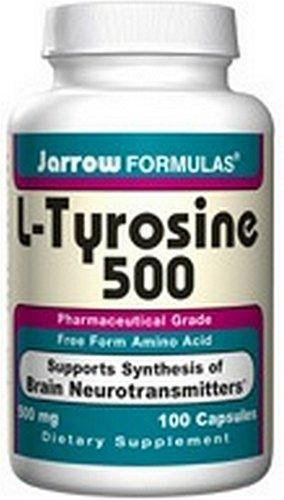 Jarrow Formulas L-Tyrosine 500mg, 100 Capsules (Pack de 2)