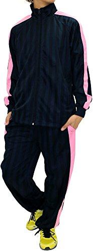 Japan Track Jacket (Skkone Men's Tracksuit Track Jacket and Pants 2 Piece Set (X-Large, Navy/Pink))