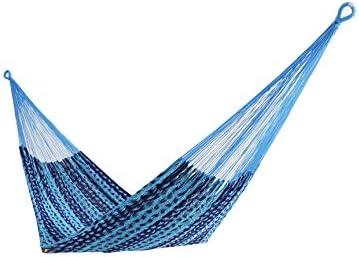 Thick Cord Mayan Hammock XXL Blue ON BLEU, Cotton