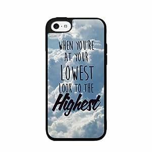 Spiritual Quote Plastic Phone Case Back Cover iPhone 5 5s wangjiang maoyi