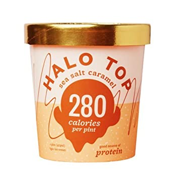 Halo Top Black Cherry Ice Cream Pint Pack Of 8 Amazon Grocery Gourmet Food