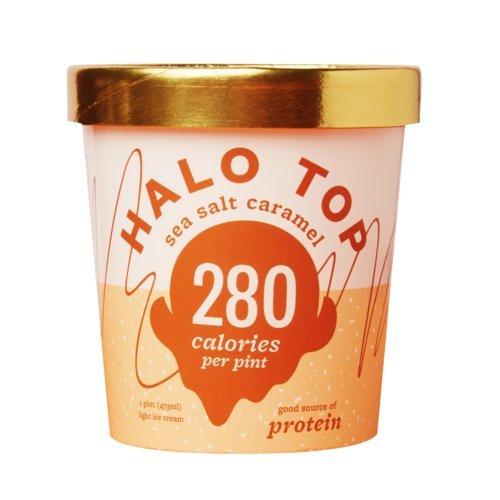 Top Caramel (Halo Top, Sea Salt Caramel Ice Cream, Pint (Pack of 8))