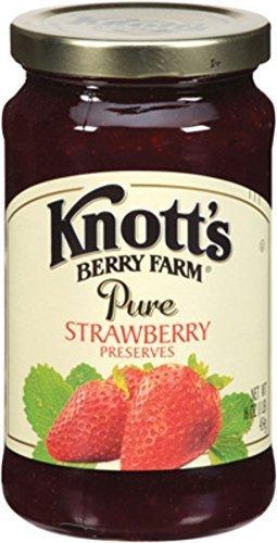 (Knott's Berry Farm, Pure Strawberry Preserves, 16oz Jar (Pack of 2))