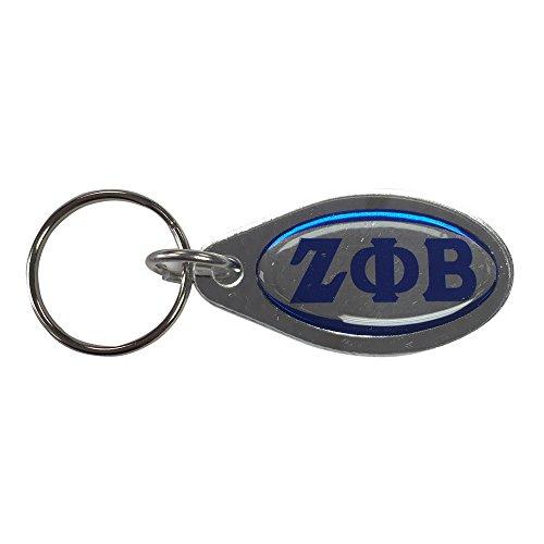 Zeta Phi Beta Oval Domed Letter Keychain