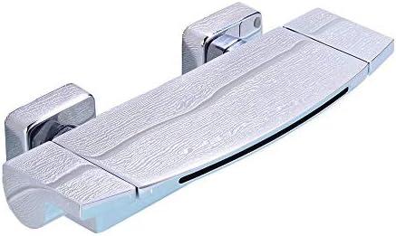 浴室水栓 壁には滝スパウト浴槽バスタブ蛇口温水と冷水のシャワーの蛇口つや消しニッケルをマウント 耐食 耐久 (色 : Silver, Size : Free size)