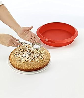 Lékué Classic - Molde redondo para tartas, 24 cm, color rojo ...