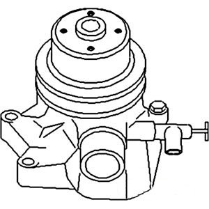 John Deere Pump Water w/ Pulley w/o Back Plate Part No: A-AT12862 by AI Products