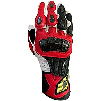 Full finger Carbon Fiber Motorcycle Gloves for Men GP-PRO Genuine Leather Motor Racing Gloves Black, X-Large