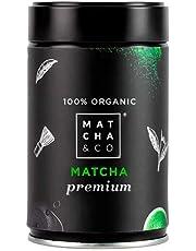 100% biologische Matcha Premium   Biologische groene thee poeder uit Japan   Biologische Matcha thee van ceremoniële kwaliteit   Matcha & CO (80 g)
