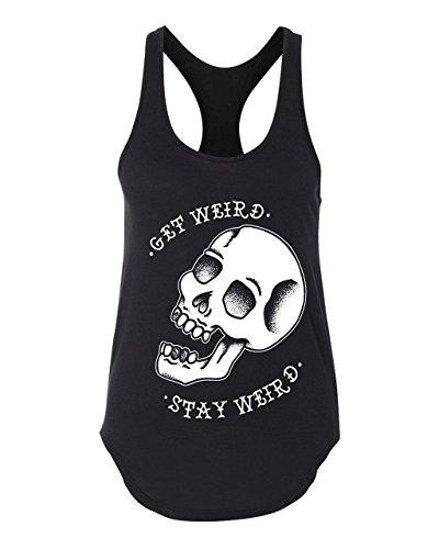 Women's Get Weird Skull Tank, Traditional Tattoo, Rockabilly, Tattoo Shirt, Punk