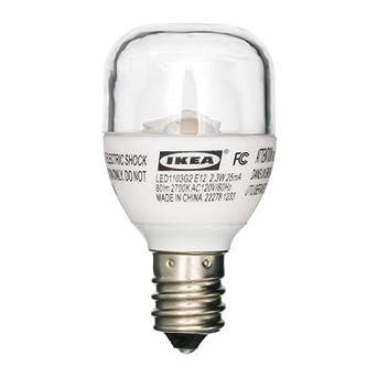 IKEA ledare bombilla LED E12, 80 lúmenes, 2,3 W, señal transparente: Amazon.es: Iluminación