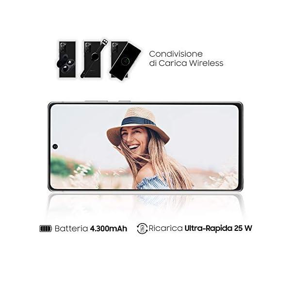 "Samsung Galaxy Note20 Smartphone, Display 6.7"" Super Amoled Plus Fhd+, 3 Fotocamere Posteriori, 256Gb, Ram 8Gb, Batteria 4300 Mah, Dual Sim + Esim, Android 10, Mystic Gray [Versione Italiana] 5"