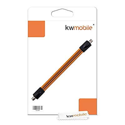 kwmobile Flat Satellite Cable - SAT Cable Window Feed-Through Flexible Coaxial Cable 10.4 Inches, 26.5 cm