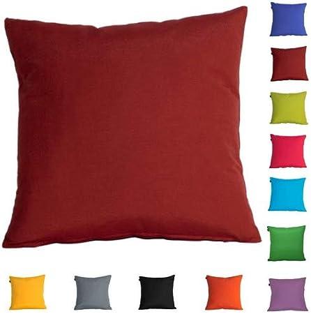 DHestia Pack x 2 Fundas Cojines Decoración Sofá y Cama 45x45 cm Loneta Colores (Rojo Teja/Red Tile), 45 x 45 cm: Amazon.es: Hogar