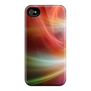 Fashion YLWQido2623aMtTS Case Cover For Iphone 4/4s(colorful Abstract Lights)