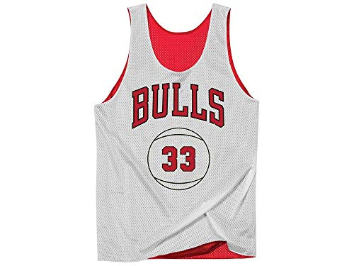 9501652ddf8 Mitchell   Ness Chicago Bulls Scottie Pippen Name Number Reversible Mesh  Tank Top