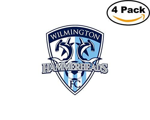 Soccer Wilmington Hammerheads Logo 4 Stickers 4X4 Inches Car Bumper Window Sticker Decal