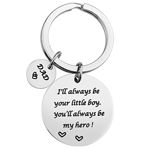 Keychain Gifts for Dad Father - Dad Gift Idea from Wife Daughter Son Kids, Christmas Birthday Fathers Valentines Day Gift for Men Husband (Be Your boy) (Christmas Gifts For Daddy From Baby Boy)